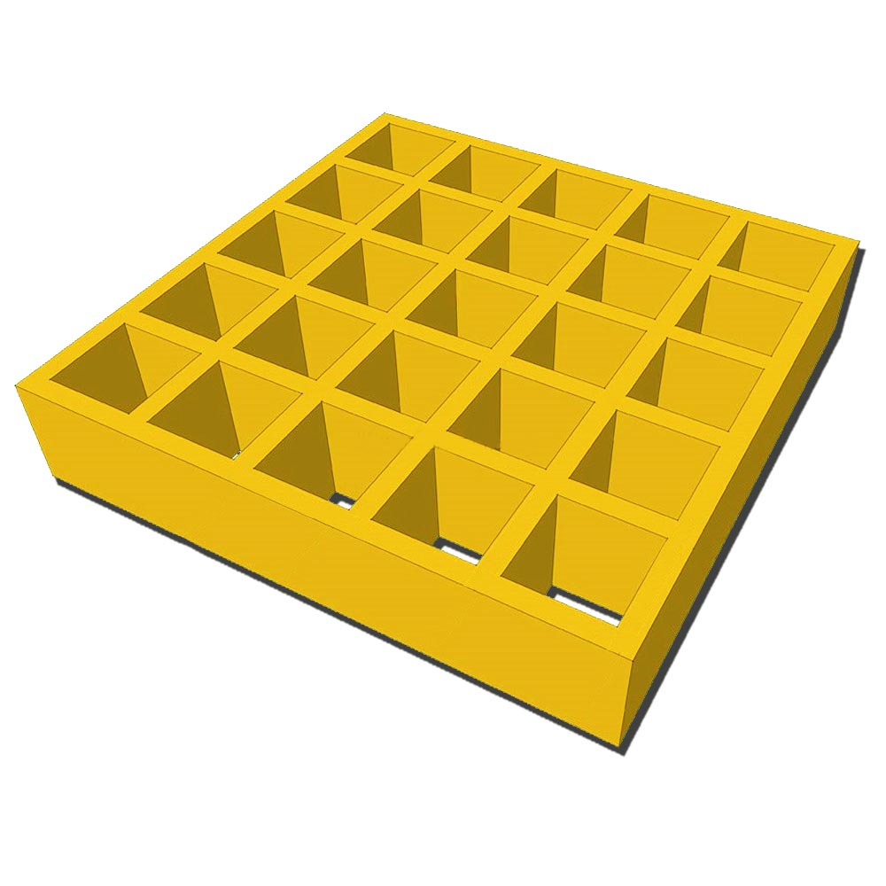 38mm Square Open Mesh GRP Grating - 25mm Deep